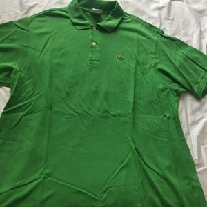 Green men's Lacoste polo
